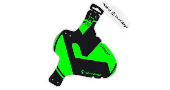rie:sel design schlamm:PE Mudguard Bright green label